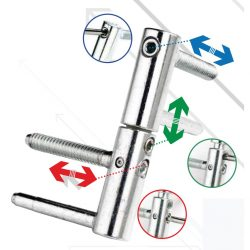 Double bolt hinge with 3 regulation points_1