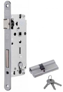 Safety lock with cylinder